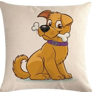 Pillow Cover- NEW- Cartoon Kids Dog
